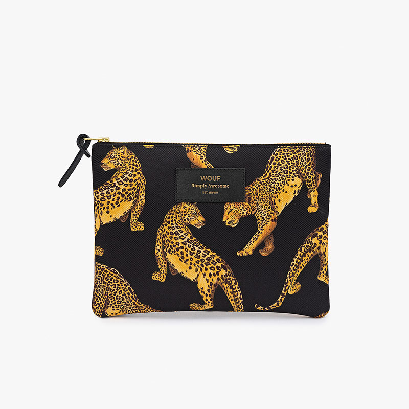 6ca4ce18625d Wouf - Black Leopard Small Pouch Bag - Glowing Space | Ekskluzywne ...